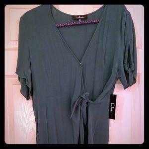 Green Tie Wrap Dress Lulu's Casual